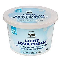 Amazon Brand - Happy Belly Light Sour Cream, Kosher, 16 Ounces