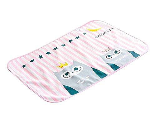 (ROSA Eule) Urinauflage Baby-Windel-Auflage Matratze Auflage-Blatt-Schutz für Baby