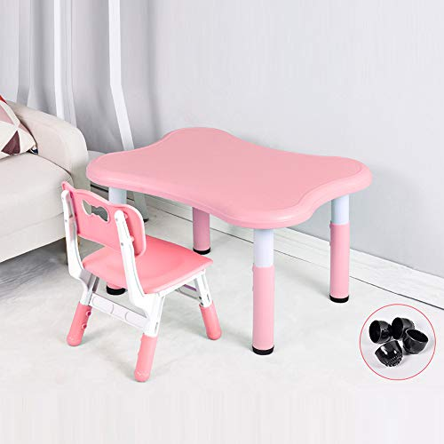 Kindertafel en stoelenset, hefboomtafel (een tafel en een stoel) kleuterschool bureauset