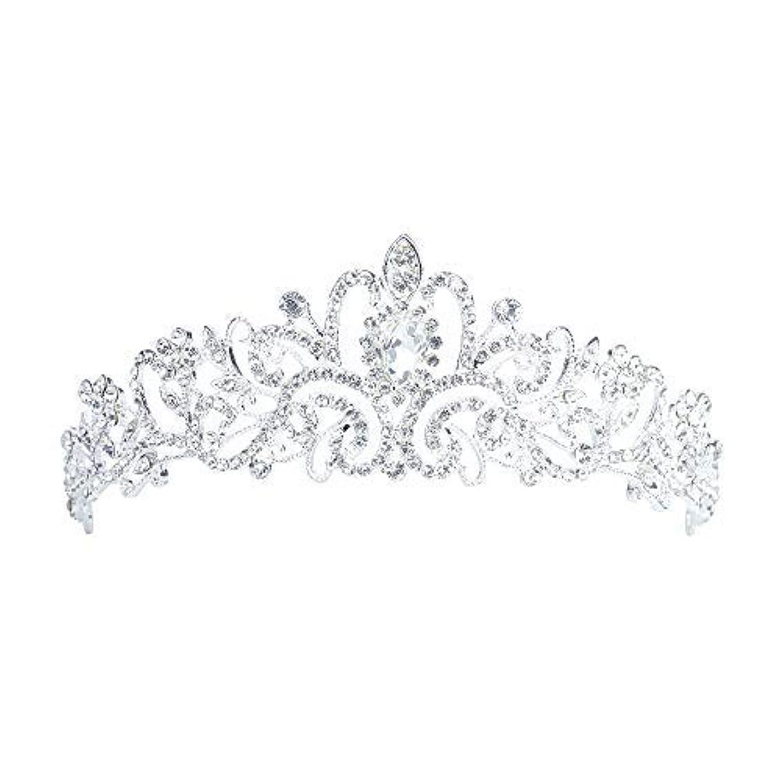 死の顎汚す靄Lermity Hair Comb Crown Rhinestone Hairpins Bridal Wedding Hair Accessories Jewelry Austrian Crystals Hair Clips [並行輸入品]