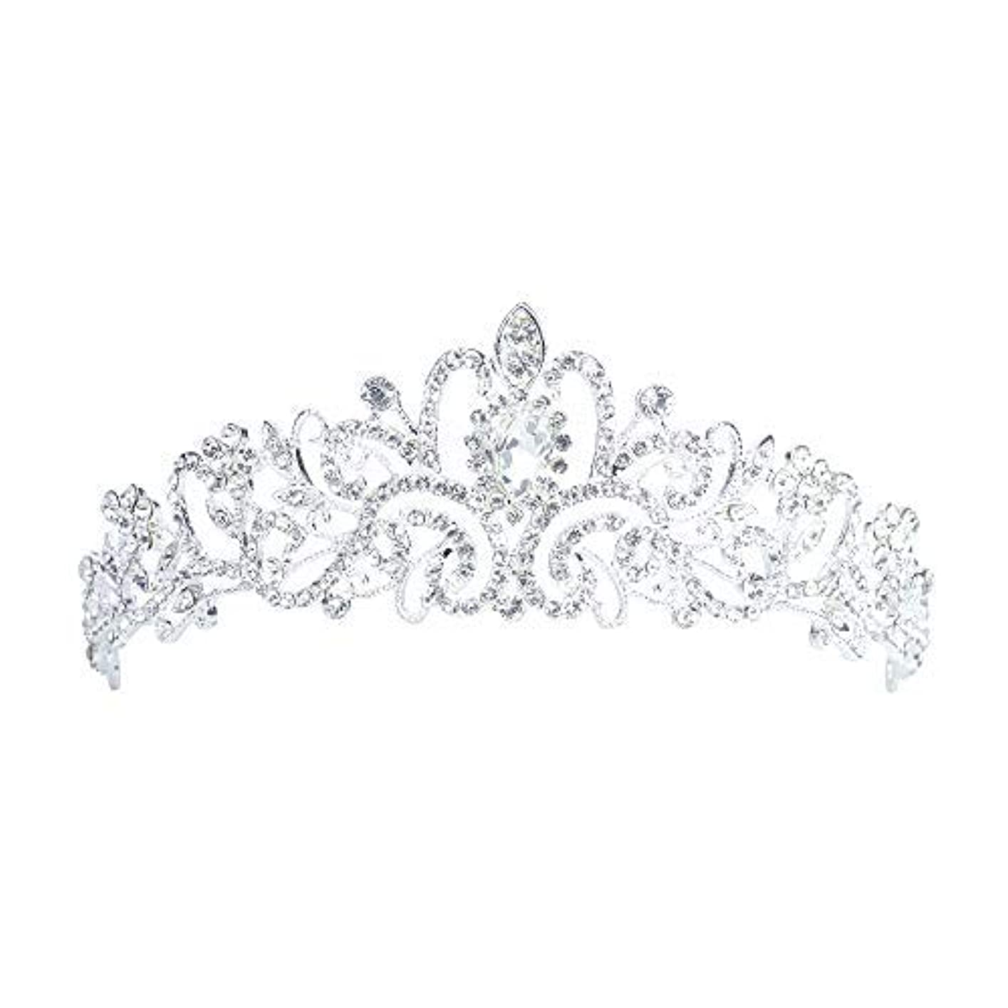 署名調査水を飲むLermity Hair Comb Crown Rhinestone Hairpins Bridal Wedding Hair Accessories Jewelry Austrian Crystals Hair Clips [並行輸入品]