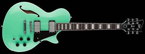 ESP LTD XTone PS-1 Guitarra eléctrica de cuerpo semirhueco (espuma de mar)