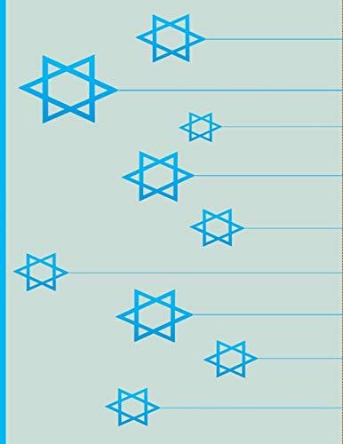 Star Of David: Jews for Jesus: Jewish Christian Notebook College Ruled Line Paper 8.5'x11' Composition Note Book 60 Sheets (120 Pages) Gold Star of David for kids lighys men women friends Judaism