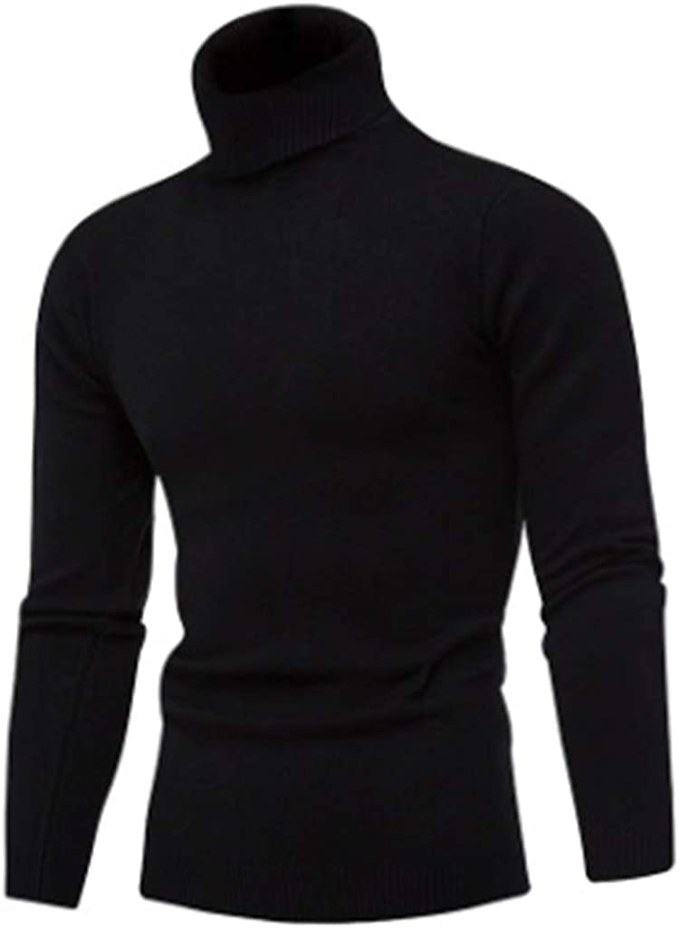 Sushine Men's Slim Fit Turtleneck Sweater Knitted Pullover Sweaters (M-XXL)