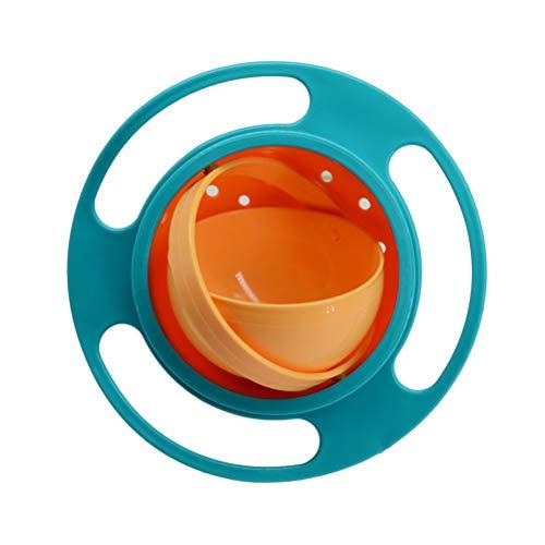 Macabolo Gyro Schüssel, 360 Grad drehbare süße Spill-Proof Schale Gyroscopic Schale mit Deckel für Kleinkinder Baby Kinder