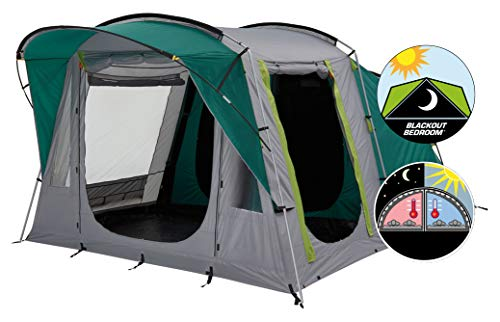 Coleman Tent Oak Canyon 4, 4 Person Family Tent with BlackOut Bedroom...