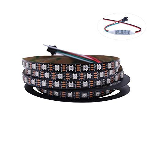 HJHX Ws2812b tira llevada 5 m 300LEDs individualmente direccionable llevó la luz, SMD5050 RGB mágico color luces de cuerda flexible (no impermeable)