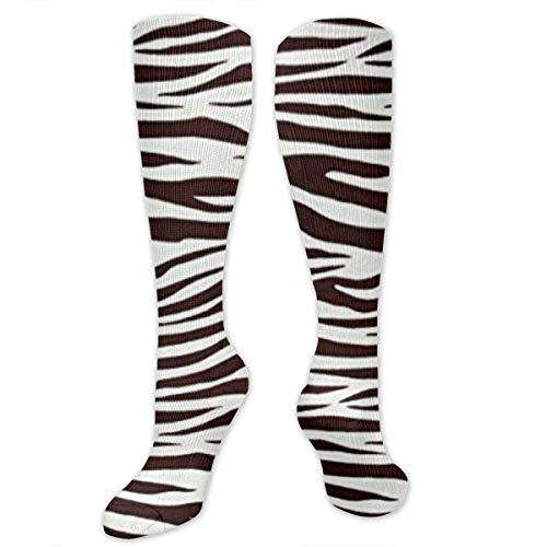 Jessicaie Shop Metro Living Zebra Schokoladenkompressionsstrümpfe Strümpfe zum Laufen