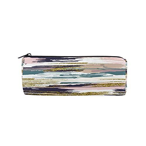 HaJie Estuche para lápices con estampado de arte abstracto con cremallera, bolsa organizadora de papelería, para niñas, niños, mujeres y hombres