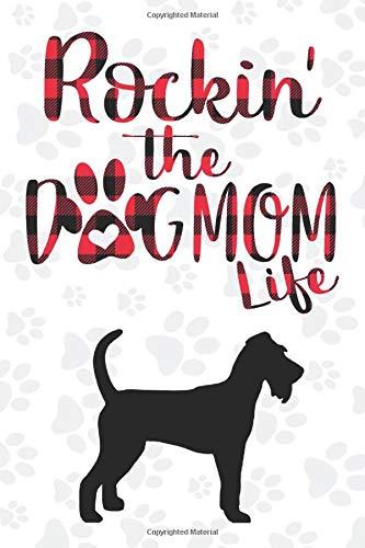 Rockin' the Dog Mom life Buffalo plaid Irish terrier Dog Notebook: Great gift for Mom, Irish terrier journal, Dogs Notebook Gift, Irish terrier ... 110 Pages, 6x9, Soft Cover, Matte Finish