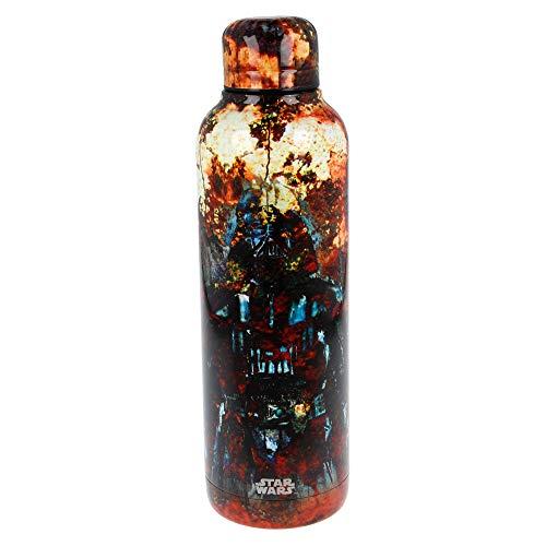 Star Wars | Botella de Agua Reutilizable de Acero Inoxidable | Botella Termo con Doble Aislamiento para 12 Horas de Bebida Caliente y 18 Horas de Bebida Fría - Libre BPA - 515 ml