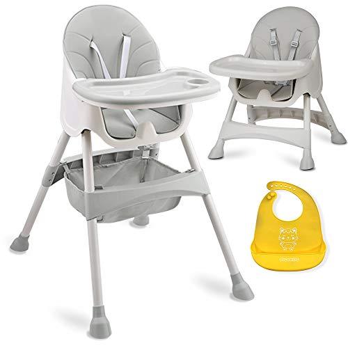Baby-Hochstuhl Milo mit Tisch (Grau)