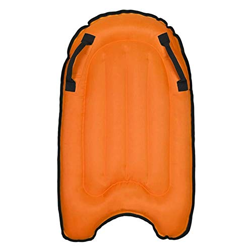 Dalovy Gartenliege Bequemes Aufblasbares Surfbrett, Schwimmbett-Wasserhängematte, Lounge Chair Drifter Swimmingpool Beach Float für Erwachsene (Orange)