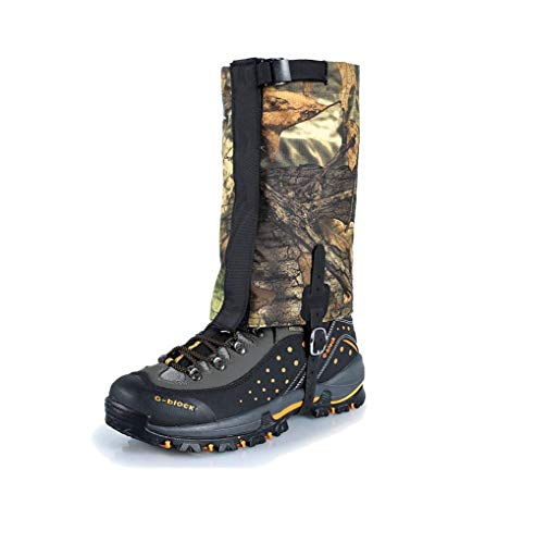 Outdoor Camouflage Snowproof Waterproof Snow Boot Gaiters Legging Gaiter High Leg Cover for Hiking Walking Climbing Hunting