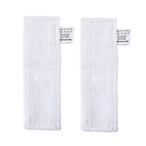 EMEXIN Juego de 2 cubiertas de microfibra para boquilla de suelo Karcher SC easyfix, cierre de velcro, solapa de pie en las cubiertas del suelo, perfecto para esquinas y bordes
