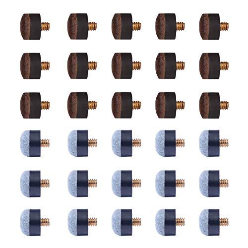 """AB Earth Billardqueue Billard 2 Stück 58\"""" Set 6 Stück House Bar Pool Sticks mit Schraub- und Klebestift, Schraubspitzen"""