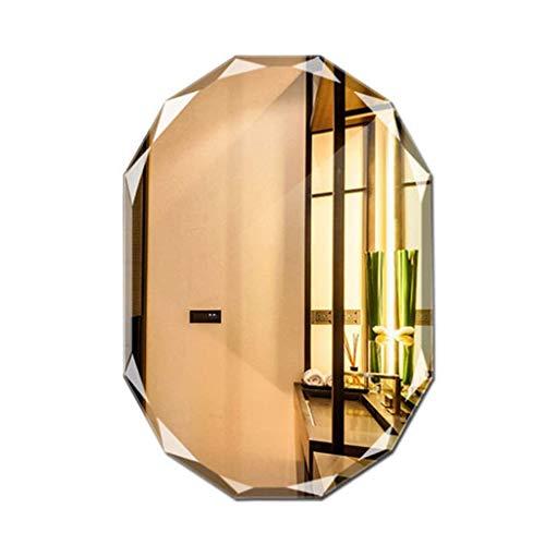 Household Necessities/Diamant Side Badkamerspiegel, polygon spiegel, wastafel 60*80CM Natuurlijk.