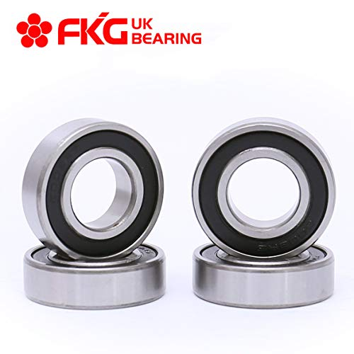 FKG 4Pcs 6003-2RS 17x35x10mm Double Rubber Seal Deep Groove Ball Bearing