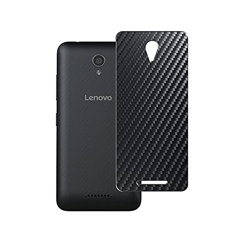 Vaxson 2-Pack Back Protector Film, compatible with Lenovo VIBE B, Black Carbon Fiber Guard Cover Skin [Not Tempered Glass/Not Front Screen Protectors]