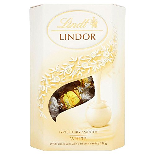 Lindt Lindor White Chocolate Truffles (200g) - Pack of 2