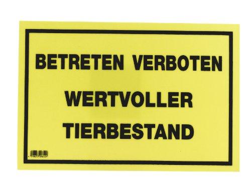 Kerbl Warnschild 20x30cm, Betreten verboten - Wertv. Tierbestand