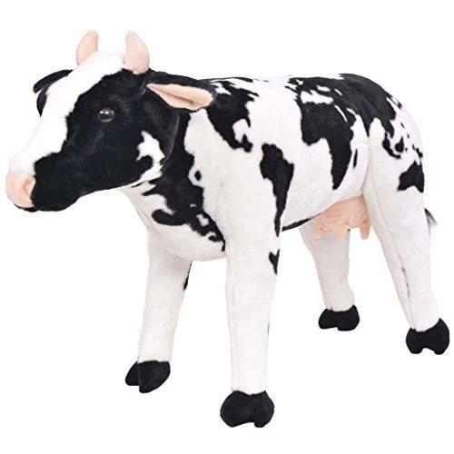vidaXL Vaca de Peluche Grande de Pie Talla XXL Animal de