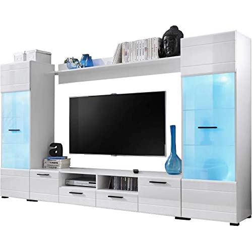 d8524e36abf Voguish Furniture Combo for Living Room - Freestanding Tall Cabinet - Wall  Shelf - 15 Colour