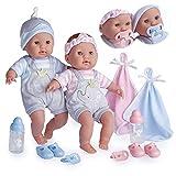 JC TOYS Berenguer Boutique Twins 15' Rose et Bleu (30050)