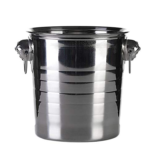 IJsblokjeshouder van roestvrij staal met tijgerkop handvat voor het verzenden van ijsclips, drie capaciteiten 3 l, 5 l, 7 l, robuust en duurzaam, ideaal voor tuinfeesten voor barbecues en COC