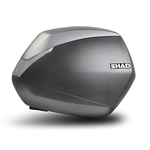SHAD SH36 - Juego de 2 maletas laterales (derecha e izquierda), color titanio