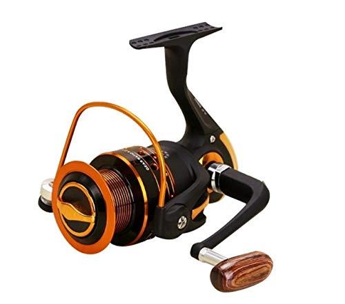 Spinning Carrete de la pesca 12BB + 1 bolas de rodamiento 500-9000 Serie Espiral de metal hilado carrete de la pesca Barco Sea Rock trastos Carrete Pesca ( Color : AX , Spool Capacity : 8000 Series )