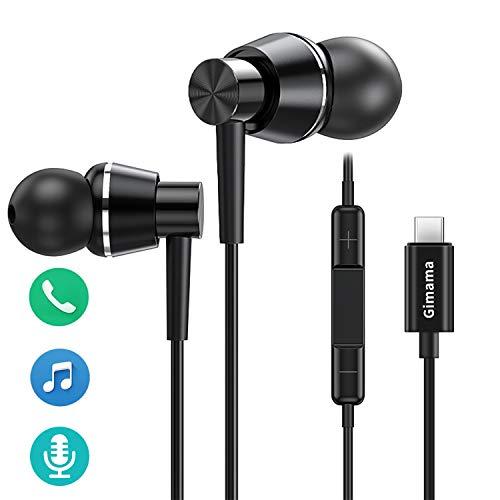 USB C Kopfhörer,Type C Kopfhörer mit Mikrofon und Lautstärkeregler,HiFi Stereo Ohrhörer,in Ear kopfhörer für Huawei P20/P20Pro/P30,Google Pixel3/2/3XL/2XL, OnePlus 6T,Samsung note10/10 Plus