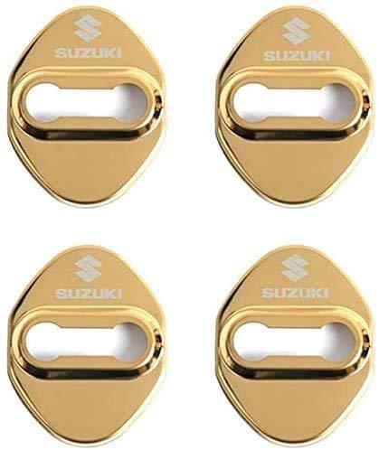4 Piezas Metal Inoxidable Protectora Cubierta Cerradura Puerta del Coche para Suzuki Vitara SX4, AnticorrosióN ProteccióN Interior Accesorios