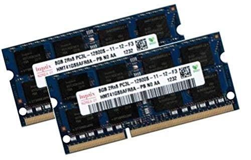 Hynix 16GB Dual Channel Kit 2 x 8 GB 204 pin DDR3-1600 SO-DIMM (1600Mhz, PC3-12800, CL11, 1.35V, für Apple und Notebook)