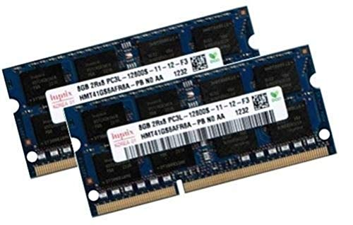 Hynix 16GB Dual Channel Kit 2 x 8 GB 204 pin DDR3-1600 SO-DIMM (1600Mhz, PC3-12800, CL11, 1.35V, für Apple und Notebook)
