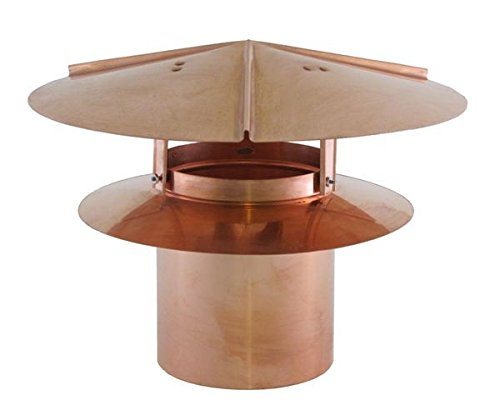 Universal Chimney Cap - Copper 8 inch