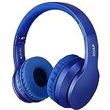 Ifecco Bluetooth Estéreo Auriculares Música sobre-oído Sonido de Alta fidelidad, Bluetooth Banda para la Cabeza Plegable con micrófono y Cable de Audio para Apple iPhone, PC (Azul Marino)