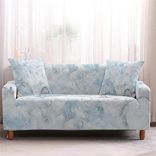 WXQY Sala de Estar Funda de sofá elástica con Estampado de mármol Funda de sofá elástica con Todo Incluido Funda de sillón Funda de sofá Antideslizante A4 2 plazas