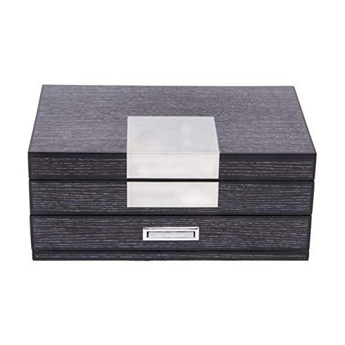LSLS Caja joyero Caja de Regalo Vintage Caja de joyería de Madera Organizadores para Mujeres, Collares Pendientes Anillos Relojes Titular de la Caja de Almacenamiento Organizador de Joyas