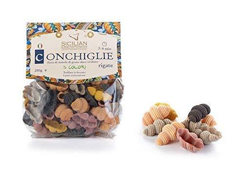 Daidone - Handgemachte sizilianische Conchiglie Rigate Nudeln - 12 Pakete aus 300g