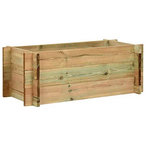 vidaXL Jardinera de Madera de Pino 80 cm Macetero Plantador Sembradora Huerto