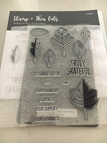 Close To My Heart Z4041 Falling for You Cardmaking Stamp & Thin Cuts My Acrylix Stamp Set CTMH