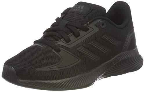 adidas Runfalcon 2.0K Chaussures de Course Unisexe pour Enfant, Core Black Core Black Grey Six, 37 1/3 EU