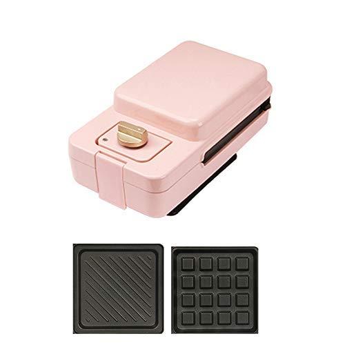 Gaufrier Gaufrier 2 en 1, toasteur, profond Revêtement anti-adhésif Plaques, 650W, automatique Contrôle de la température Bouton de synchronisation gaufrier professionnel