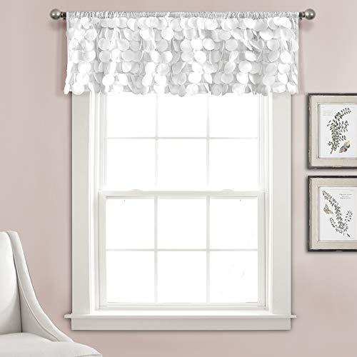 "Lush Decor Lush Décor, White Gigi Valance Textured Window Kitchen Curtain (Single), 14"" x 70"