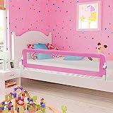Ringhiera per letto di sicurezza per bambini, portatile, protezione contro le cadute 180 x 42cm Rosa