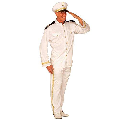 Amakando Kapitänskostüm Herren Marine Offizier Kostüm XL (54) Kapitän Herrenkostüm Fasching Captain Faschingskostüm Navy Offizierkostüm Seemann Karnevalskostüm Uniform Mottoparty Verkleidung Karneval