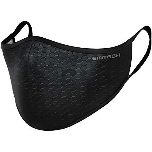 SMMASH Premium Design Mundschutz Maske Wiederverwendbar, Hochwertiges Gesichtsmaske Waschbar, Hergestellt in der Europäischen Union, Staubschutzmaske für Damen, Herren (L/XL)
