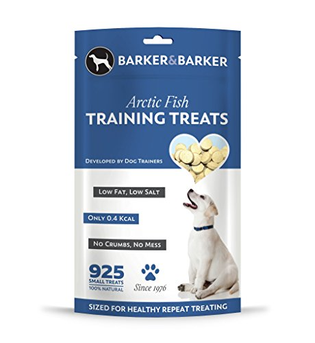 Barker and Barker Low Fat Dog Training Treats 925 Small Arctic Fish Treat pouch