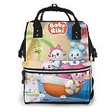 Hdadwy Zaino da viaggio impermeabile multifunzionale Baby Riki, zaino per mamma e bambino, borsa per pannolini